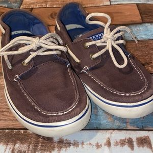 SPERRY, Brown & Navy, Sliders, Youth, US Size 3